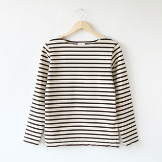 7.8oz Long-sleeved stripe basque shirt