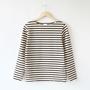 7.8oz Long-sleeved stripe basque shirt