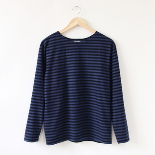 Long sleeve stripe Basque shirt