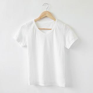 なめらか天竺 VネックTシャツ