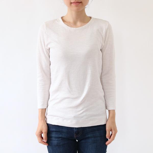 モデル身長:158cm(ライトグレー M) 少し赤みの入った白に近い色です。