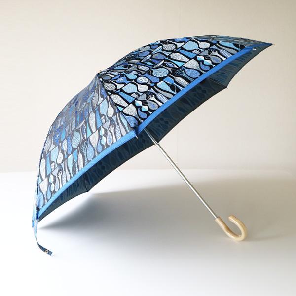 晴雨兼用折り畳み傘 POTTERY(ブルー)