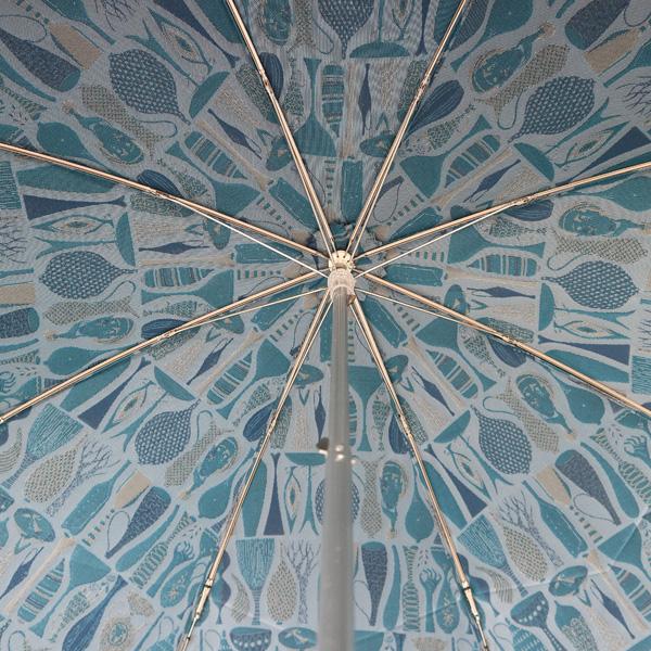 傘の内側には反転した絵柄が入ります。(ブルー)