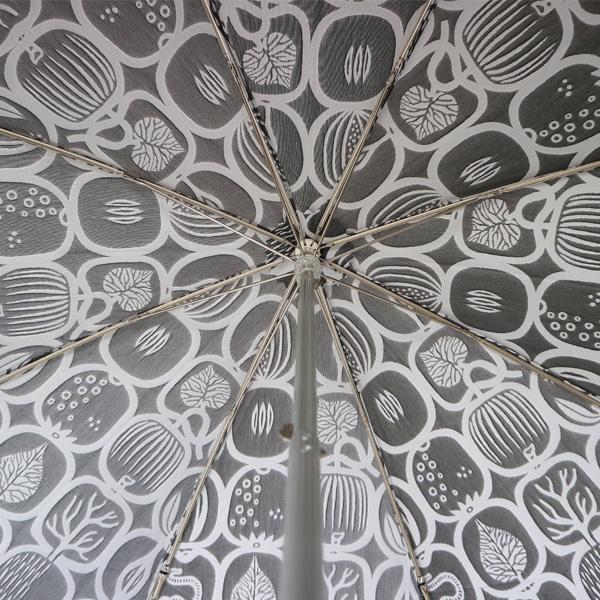 傘の内側には反転した絵柄が入ります(ホワイト×ブラック)