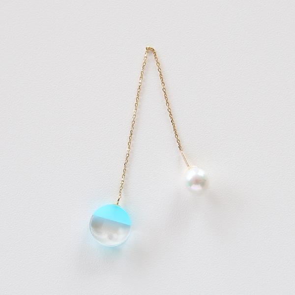 ピアス and Pierce(sea blue chalcedony)