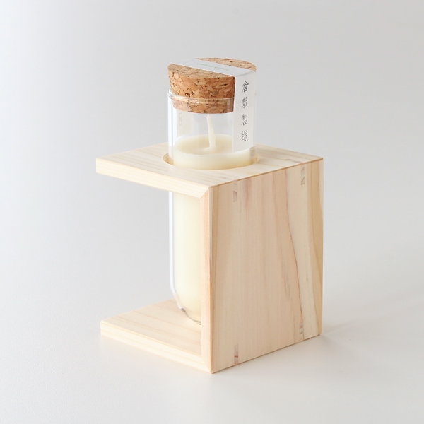 コの字型の木製スタンド