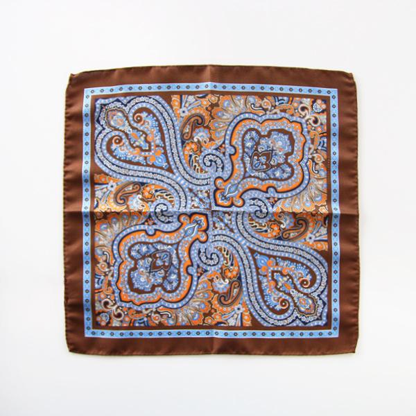 ポケットチーフ(BROWN)