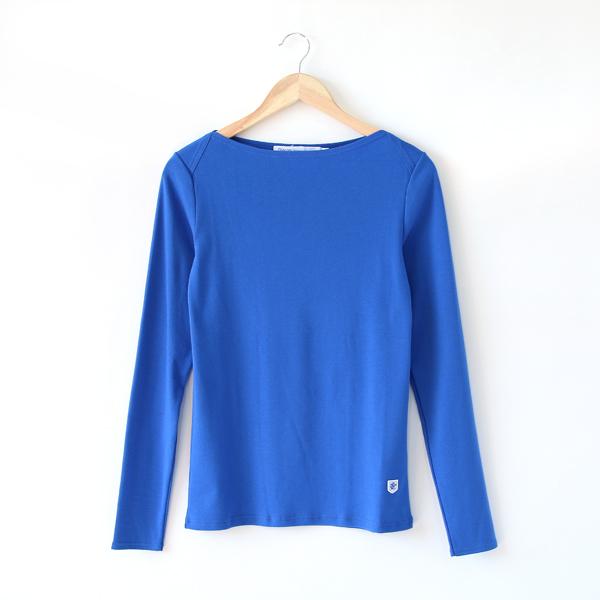 無地ボートネックL/S LADIES(ROY BLUE)