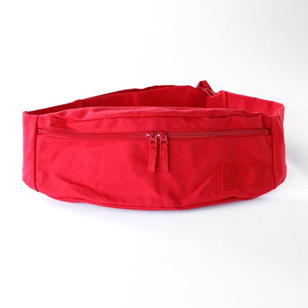 先染めを施した倉敷帆布のボディバッグ