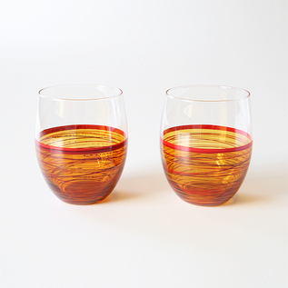 SPIRAL TUMBLER TWO PIECE SET