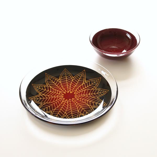 イメージ(右後ろのお皿:花火 2枚セットの牡丹)