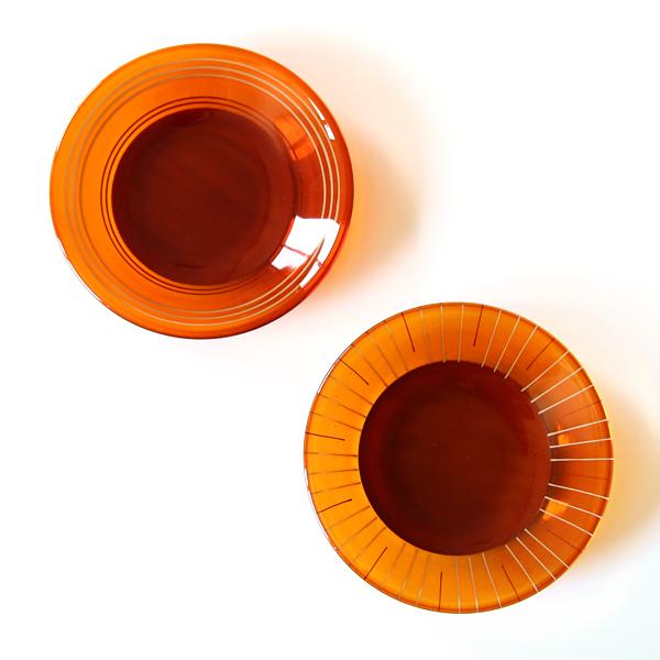 水の輪から成る波紋をモチーフにした豆皿2枚組