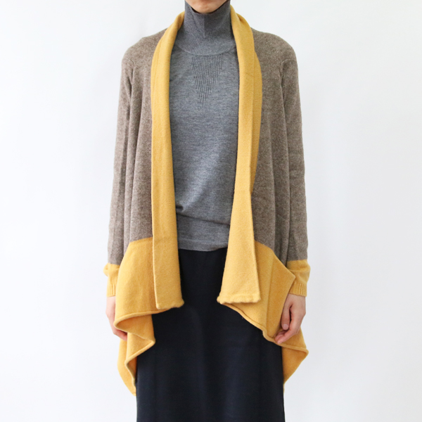 モデル身長:166cm(BROWN/YELLOW)