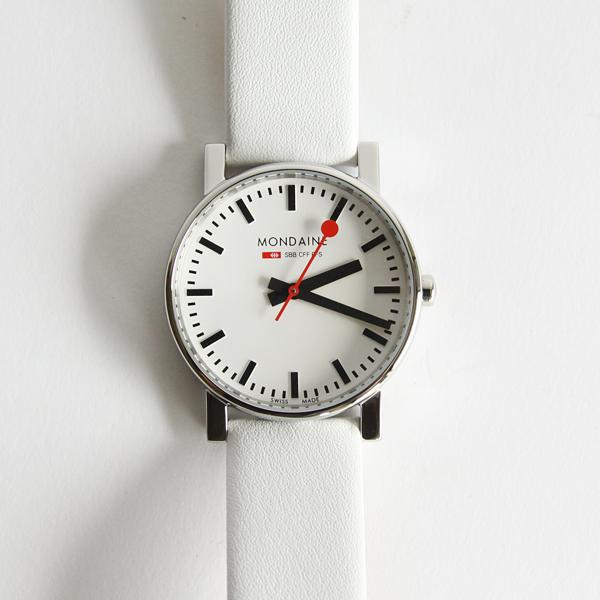 エヴォ ホワイト 35mm ホワイトダイアル ホワイトレザーストラップ
