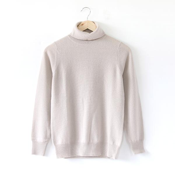 カシミヤ タートルネックセーター(IVORY)