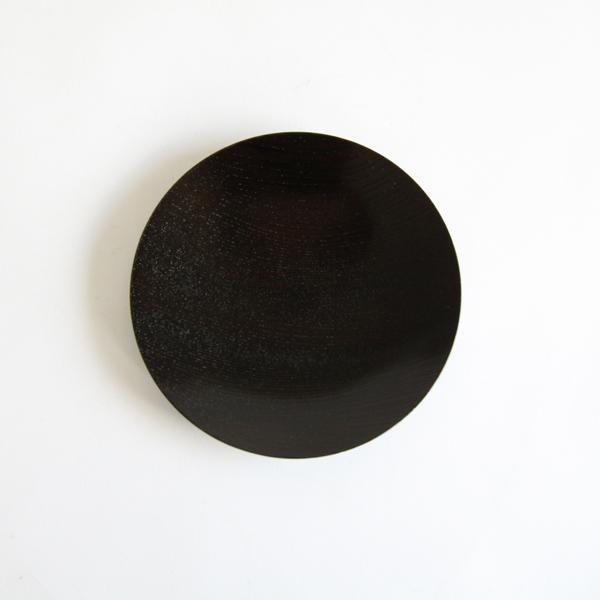 うすびき 皿 黒拭漆 3.0