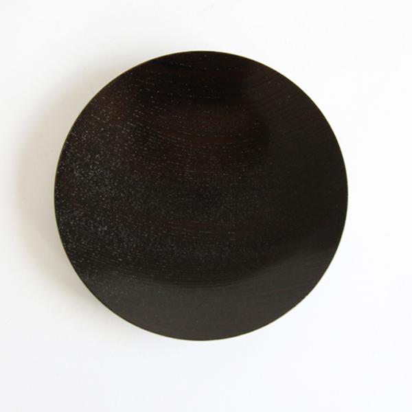 うすびき 皿 黒拭漆 5.0