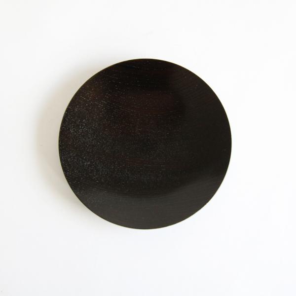 うすびき 皿 黒拭漆 4.0
