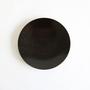 うすびき 皿 黒拭漆