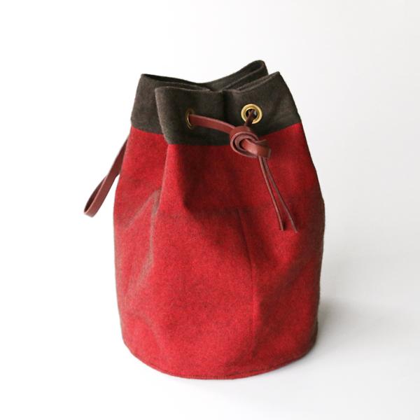 SOC×SCCコラボ バケットバッグ MEDIUM(RED)