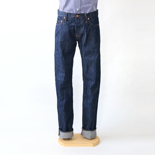 MEN 14OZ SLIM TAPARED ONE WASH DENIM PANTS