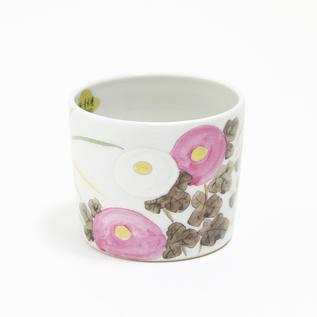 煎茶碗 金銀彩 秋草