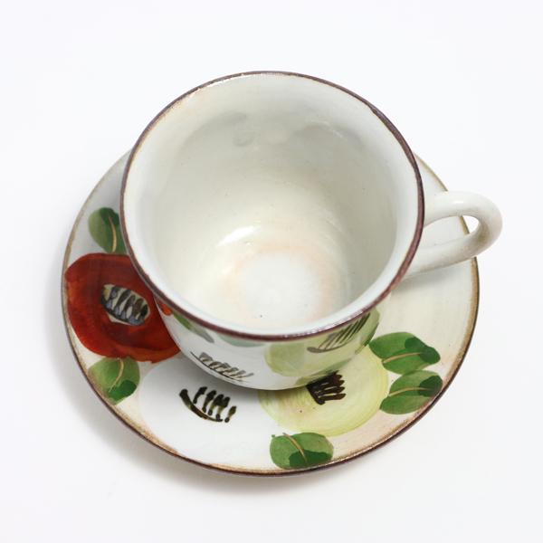 珈琲碗皿 着彩椿