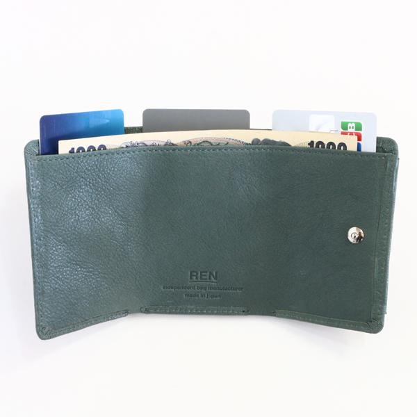 内側は紙幣用ポケット×1 、カードスロット×3
