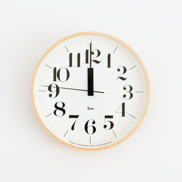 リキクロック0401 電波時計(直径25.4cm)