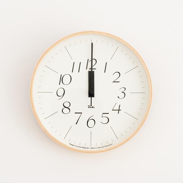 リキクロック0312 電波時計(直径25.4cm)