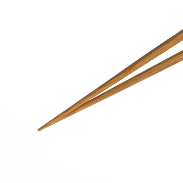 先端に向かって丸く細く、つまみやすくした箸先