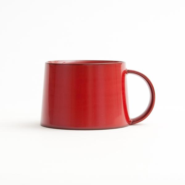 コーヒーカップ(本朱)