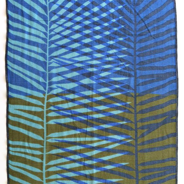 ヤシの葉をモチーフにしたデザイン (GREEN BLUE)