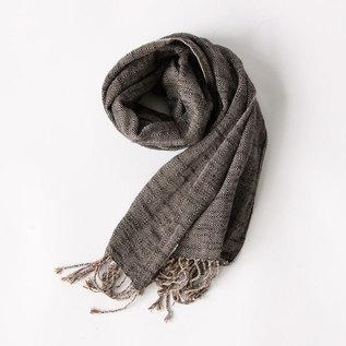 かすりスカーフ ヘリンボーン