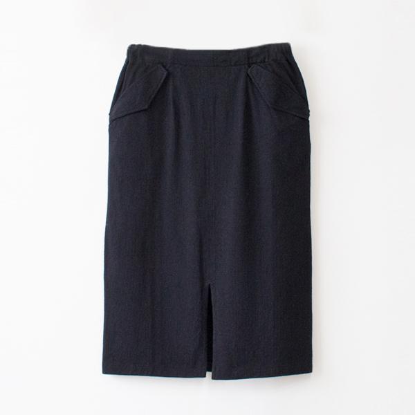 HENIN スカート(BLACK NAVY)