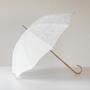 【別注】晴雨兼用長傘 スクエアジャカード ホワイト