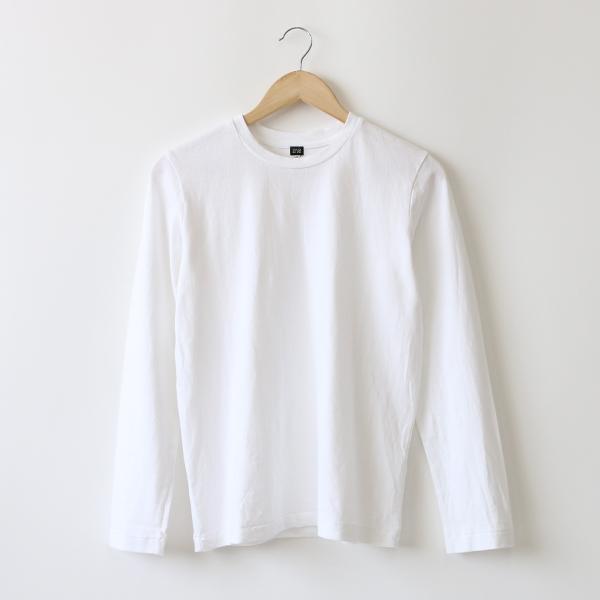リネンコットン長袖Tシャツ(WHITE)
