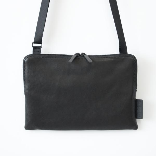 レザーショルダーバッグ pouch(BLACK)