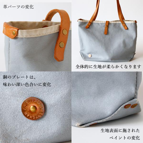素材の経年変化の一例 ※画像のバッグは、仕様が一部異なります