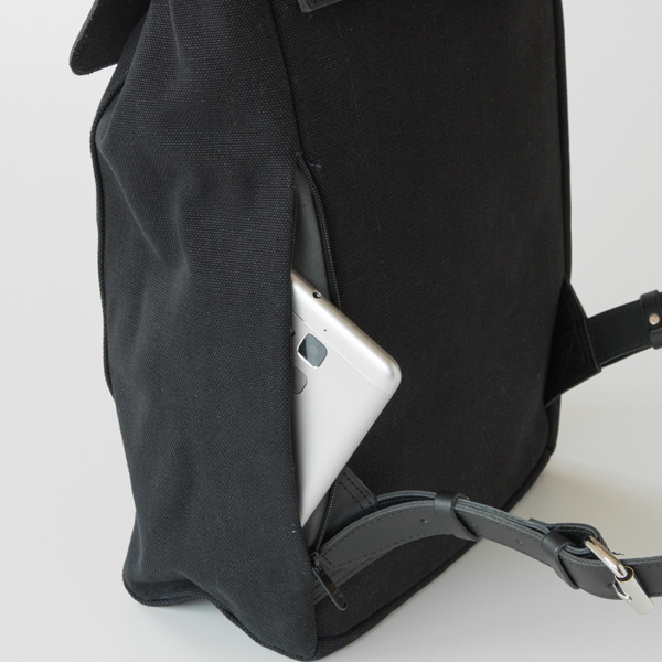 側面ファスナーポケット(BLACK)