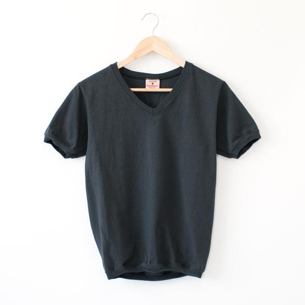 Vネック ショートスリーブ Tシャツ OFF BLACK
