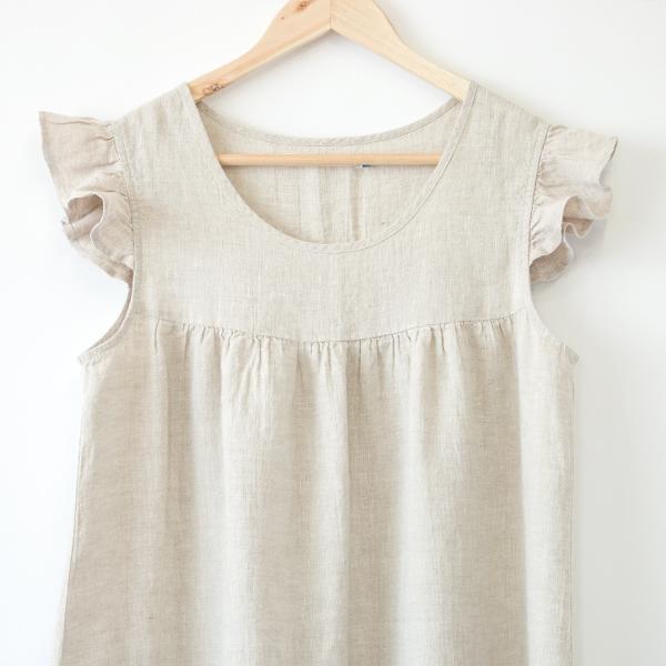 リネンパジャマ ドレス(NATURAL)
