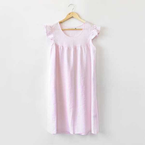 リネンパジャマ ドレス(LIGHT PINK)
