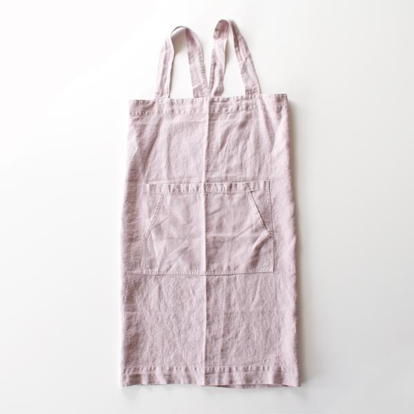 リネンエプロン Pinafore apron Colors(PINK LAVENDER)