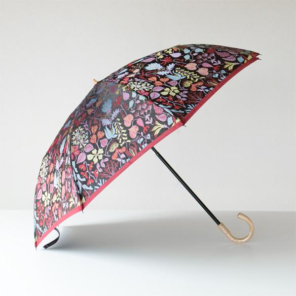 晴雨兼用折り畳み傘 HERBARIUM(レッド)