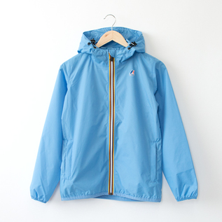 WOMEN PACKABLE WINDBREAKER AZURE BLUE