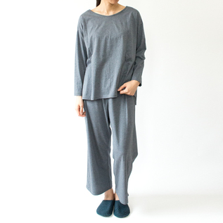 BESPOKE LONG SLEEVE PAJAMAS NAVY