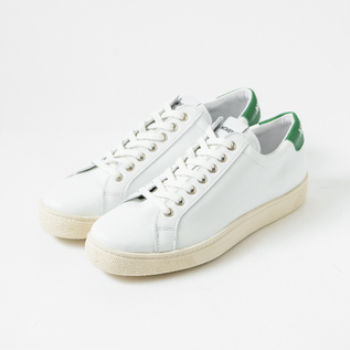 LEATHER SNEAKER ITOH CLASSIC WHITE-GREEN