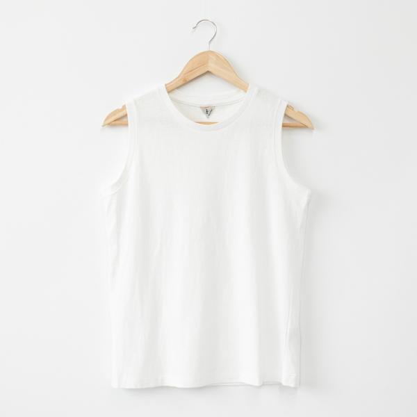 ELENI ノースリーブシャツ(WHITE)