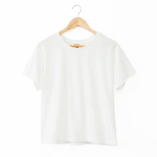 ERIN ボックスタックTシャツ(WHITE)
